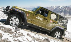Jeep Wrangler Unlimited покорили самый высокий вулкан в мире